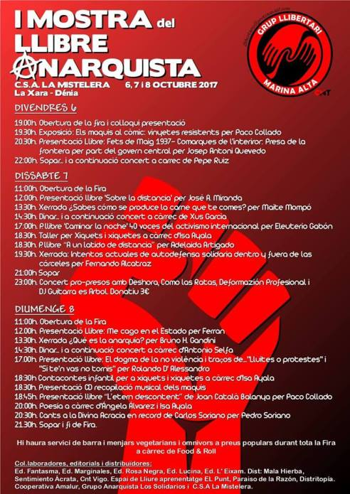 Mostra Llibre Anarquista la Mistelera