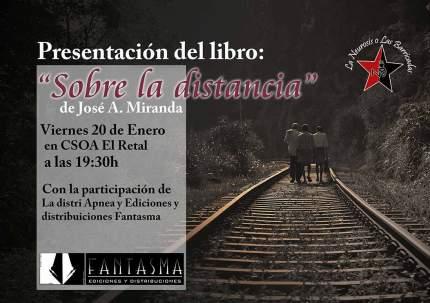 Cartel presentacion Sobre la distancia Murcia